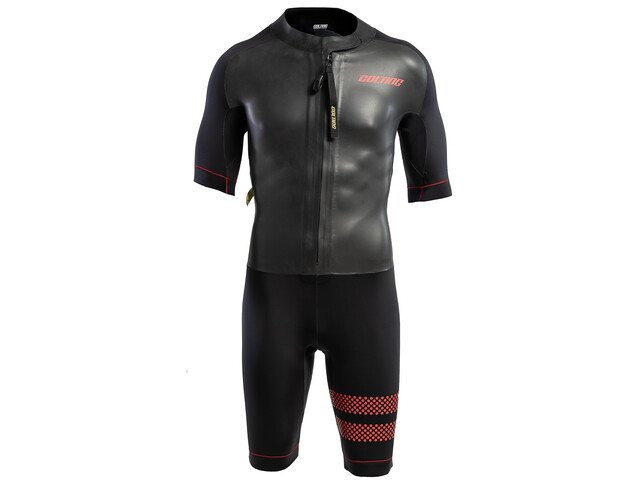 Colting Wetsuits Swimrun Go Märkäpuku Miehet, black/red